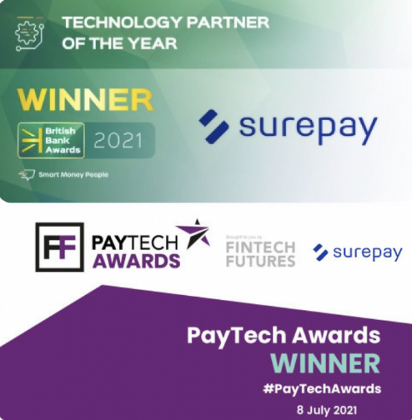 SurePay wins two Awards in the UK
